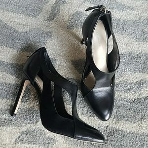 Zara Woman Black Leather Booties 6